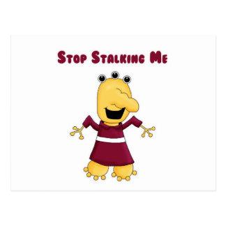 Stop Stalking Me Monster Postcard