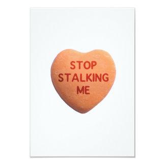 Stop Stalking Me Orange Candy Heart Card