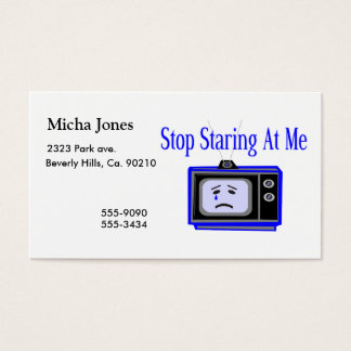 Stop Staring At Me Television Set Business Card
