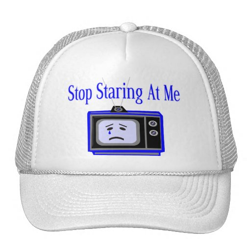Stop Staring At Me Television Set Trucker Hat