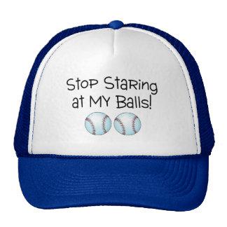 Stop Staring At My Balls (Baseball) Mesh Hats