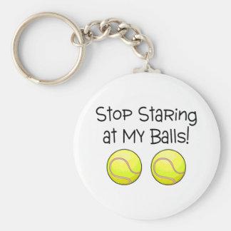 Stop Staring At My Balls (Tennis Balls) Keychain