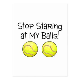 Stop Staring At My Balls Tennis Balls Postcard