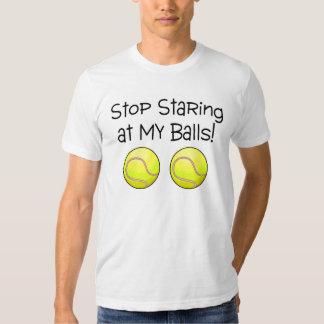 Stop Staring At My Balls (Tennis Balls) Tee Shirt