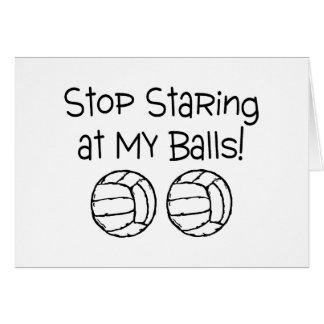 Stop Staring At My Balls Volleyballs Card