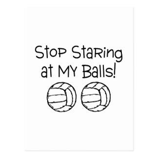 Stop Staring At My Balls Volleyballs Postcard