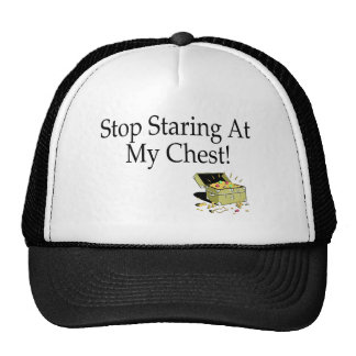 Stop Staring At My Chest! Trucker Hat