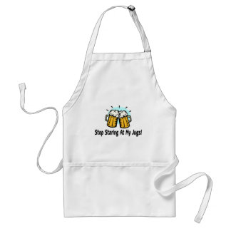 Stop Staring At My Jugs Apron