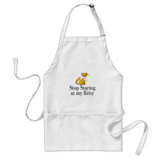 Stop Staring At My Kitty Adult Apron