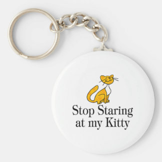 Stop Staring At My Kitty Key Chain