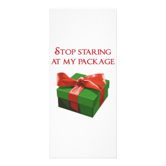 Stop Staring at my Package Christmas Present Rack Card