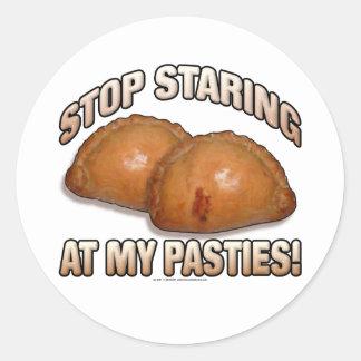 Stop Staring at my Pasties! Classic Round Sticker