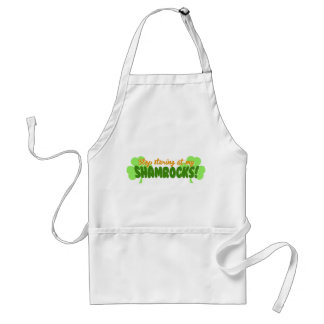 Stop Staring at my Shamrocks! Adult Apron