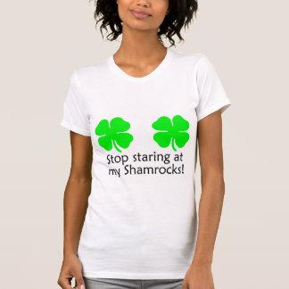 Stop Staring At My Shamrocks Tees