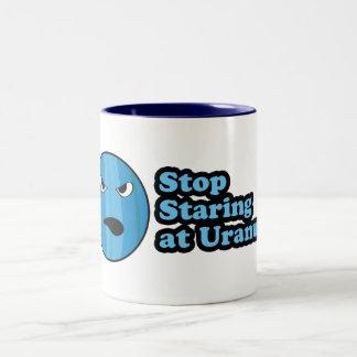 Stop Staring at Uranus! Two-Tone Coffee Mug