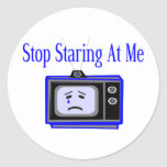 Stop Staring Round Stickers