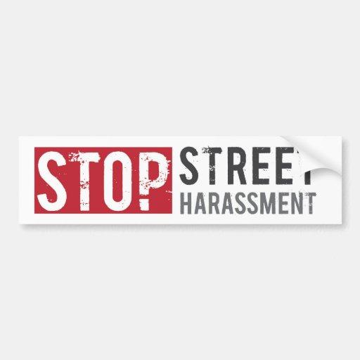 Stop Street Harassment Bumper Sticker
