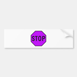 Stop Street Road Sign Symbol Caution Traffic Bumper Sticker