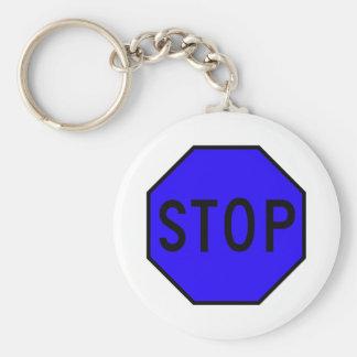 Stop Street Road Sign Symbol Caution Traffic Keychain