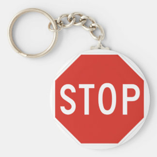 Stop Street Road Sign Symbol Caution Traffic Key Chains
