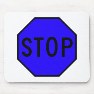 Stop Street Road Sign Symbol Caution Traffic Mouse Pad