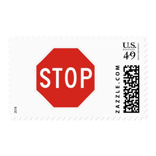 Stop Street Road Sign Symbol Caution Traffic Postage Stamps