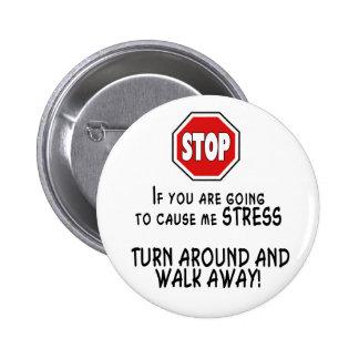Stop Stress 2 Inch Round Button