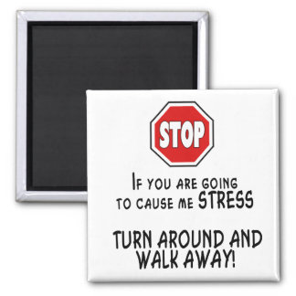 Stop Stress 2 Inch Square Magnet