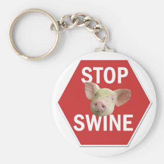Stop Swine Keychain