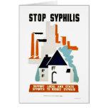Stop Syphilis 1940 WPA Card