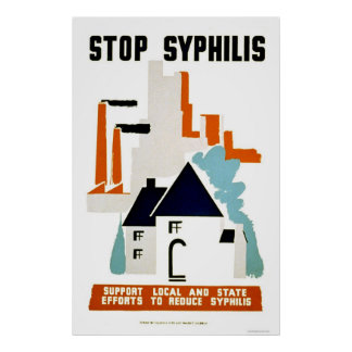 Stop Syphilis 1940 WPA Poster