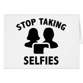 Stop Taking Selfies Card