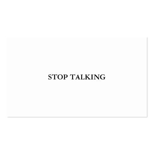 Stop Talking Card