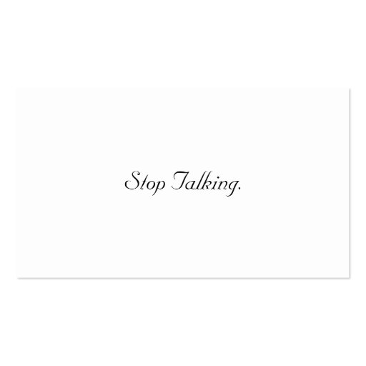 Stop Talking Cards Business Card Templates