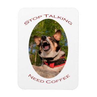 Stop Talking...Need Coffee Rectangular Photo Magnet