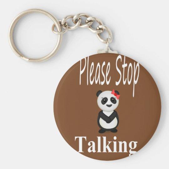 Stop Talking Panda Keychain