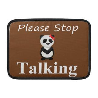 Stop Talking Panda MacBook Air Sleeve