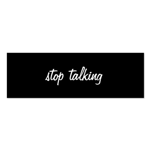 Stop Talking Profile Card Business Card Templates