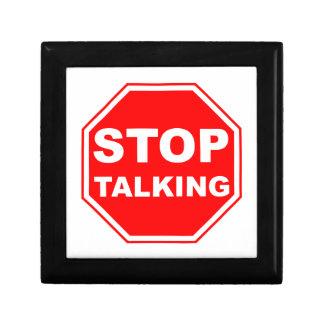 Stop Talking Sign Jewelry Box