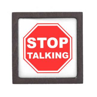Stop Talking Sign Keepsake Box