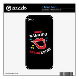 Stop talking Start doing iPhone 4 Decals