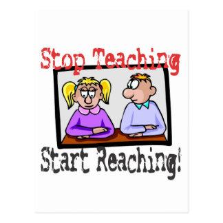 stop teaching postcard