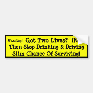 Stop Texting And Driving! Bumper Sticker