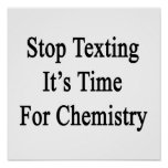 Stop Texting It's Time For Chemistry Posters