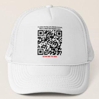 STOP TEXTING QR Code Hat
