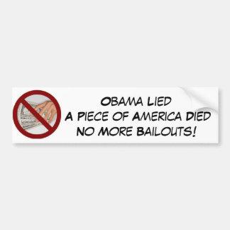Stop the Bailouts Bumper Sticker
