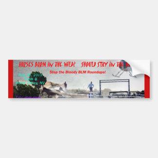 Stop the Bloody Roundup! Bumper Sticker Car Bumper Sticker