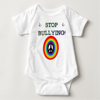 stop the bullying sign baby bodysuit