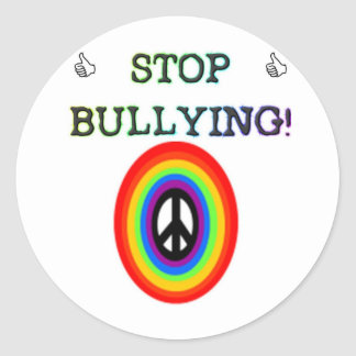 stop the bullying sign classic round sticker