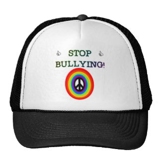 stop the bullying sign trucker hat